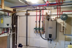 After Wall hung boiler and tankless water heater